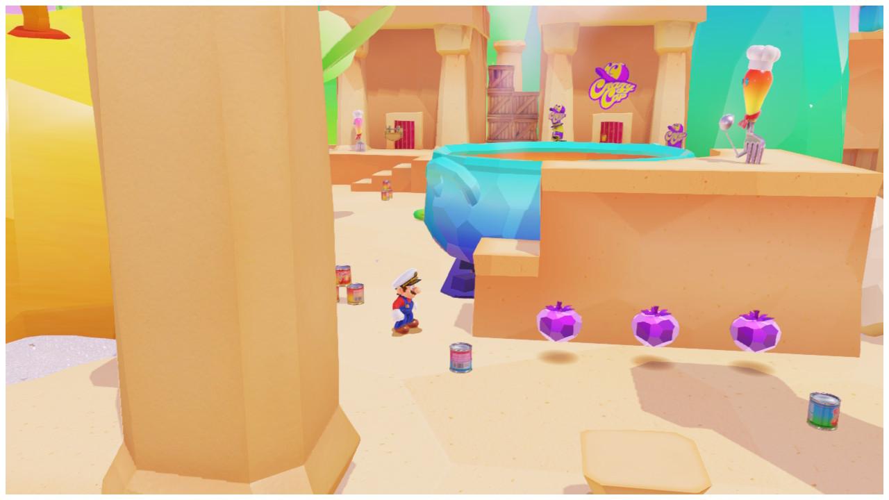 Super Mario Odyssey Reino Fogones monedas moradas