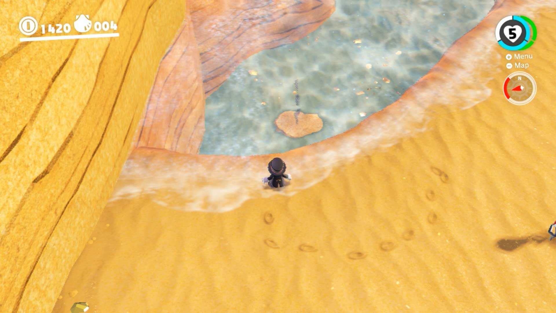 Super Mario Odyssey reino Ribereño Monedas Moradas