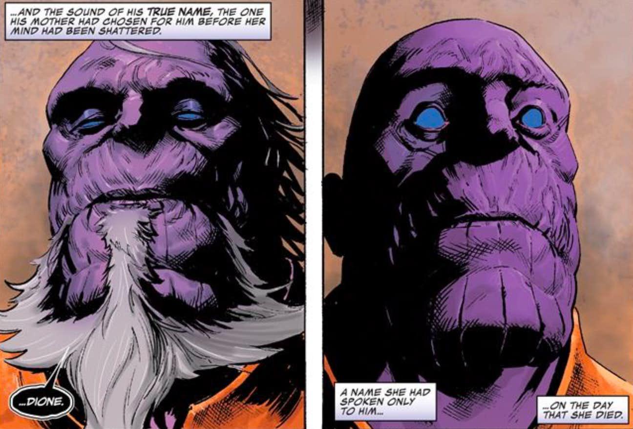 El verdadero nombre de Thanos es Dione