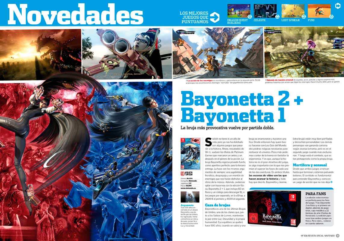 Análisis Bayonetta 2 Switch RON 306