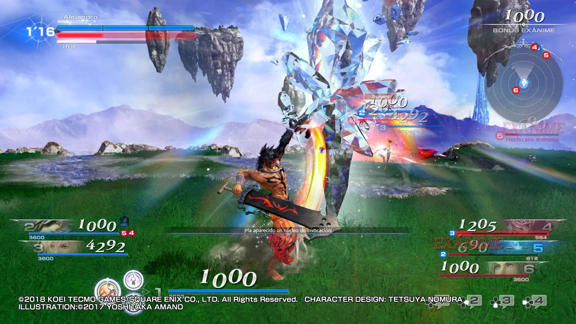 Dissidia Final Fantasy NT PS4 análisis