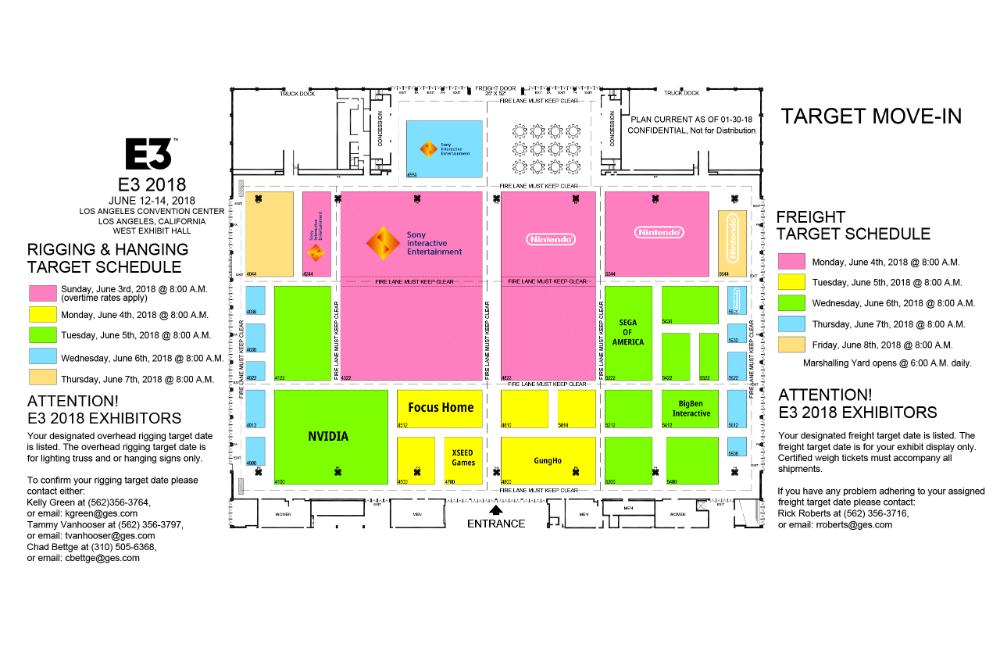 E3 2018 - Mapa Pabellón Principal