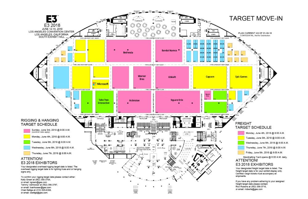 E3 2018 - Mapa Pabellón Sur