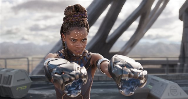 Letitia Wright como Shuri en Black Panther