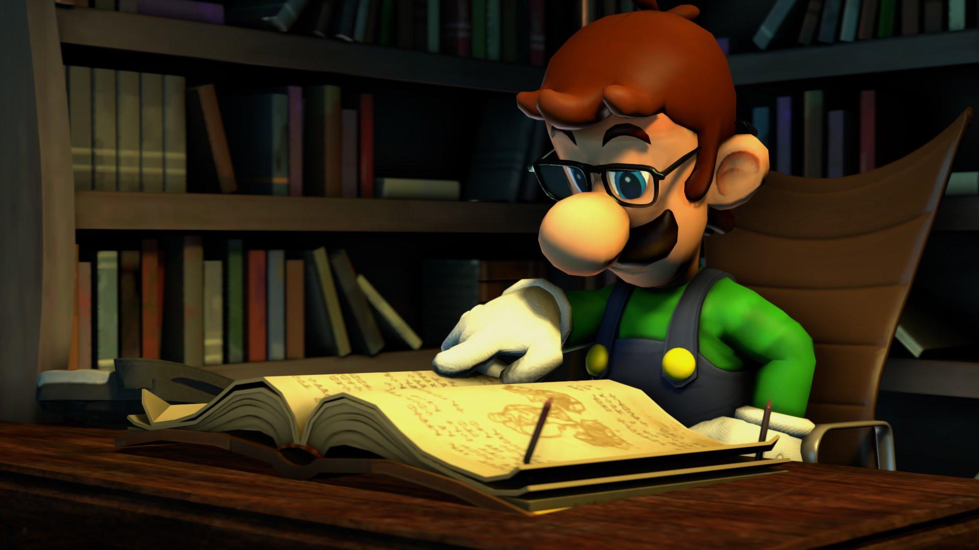 Luigi estudiando - Test videojuegos
