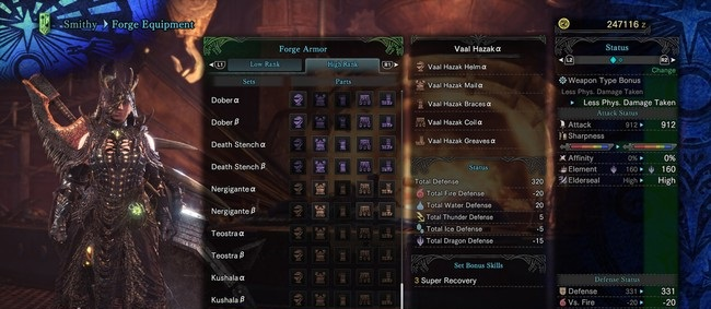 Monster Hunter World - Vaal Hazak Armor