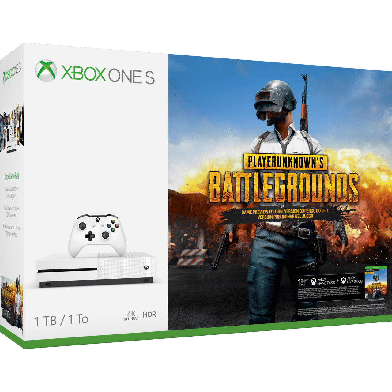 Pack Xbox One S + PUBG