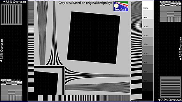 Patrón Sharpness & Overscan de AVS HD709
