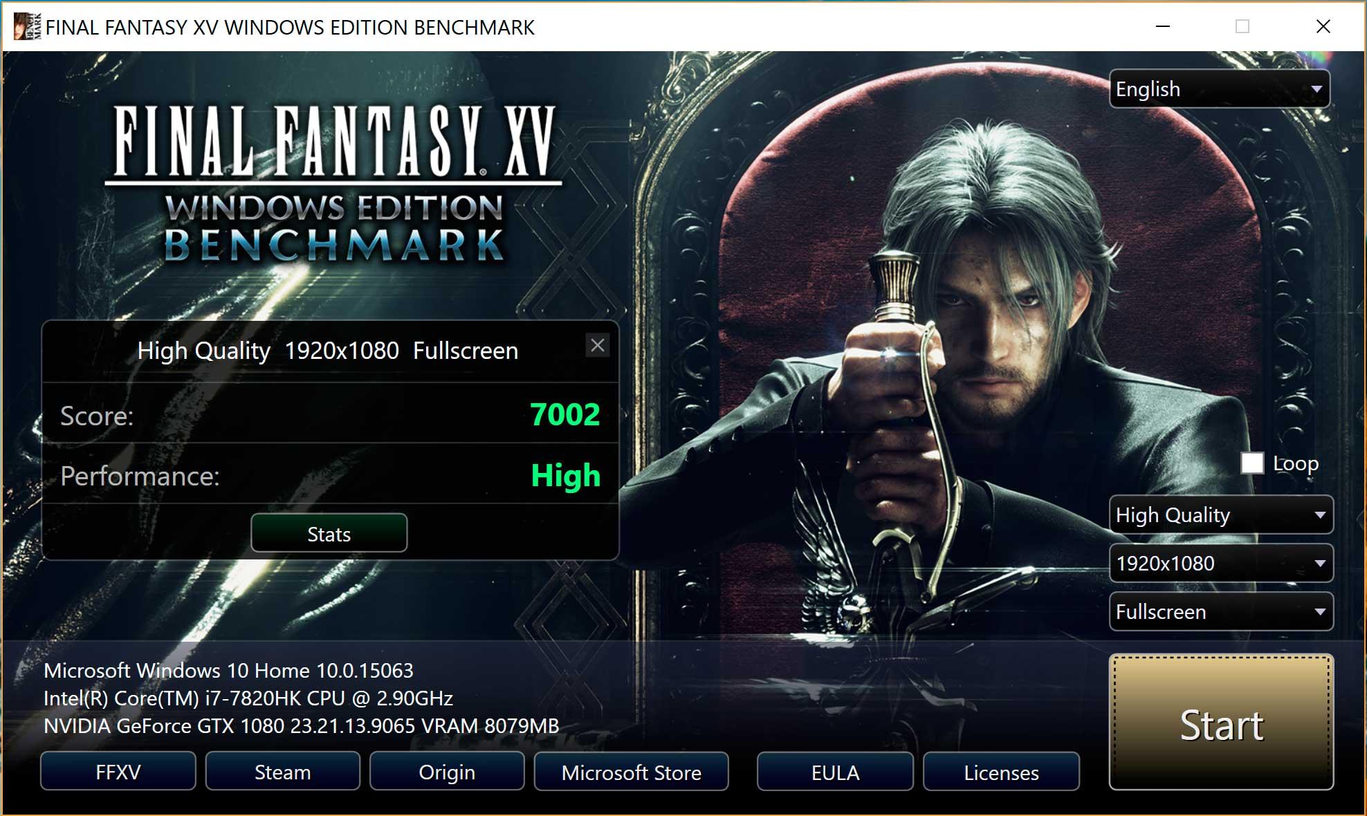 Rendimiento de Final Fantasy XV
