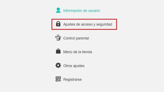 verificación en dos pasos Switch