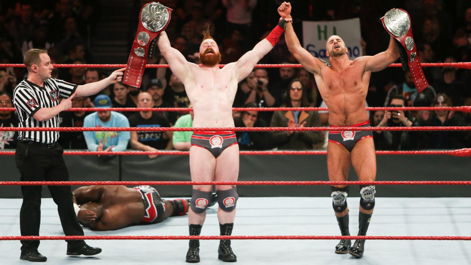 WWE Elimination chamber 2018 - Cesaro y Sheamus derrotaron a Titus Worldwide