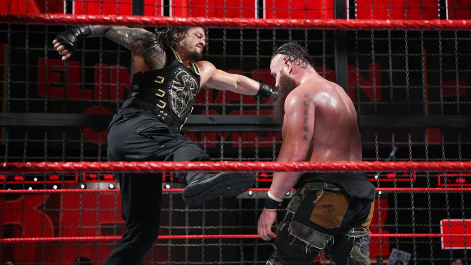 WWE Elimination Chamber 2018 - Roman Reigns ganó el Elimination Chamber masculino
