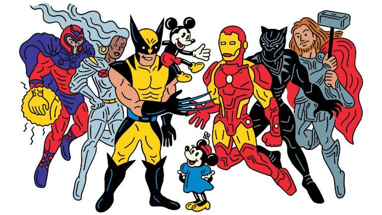 X-Men y Disney por Tomi Um