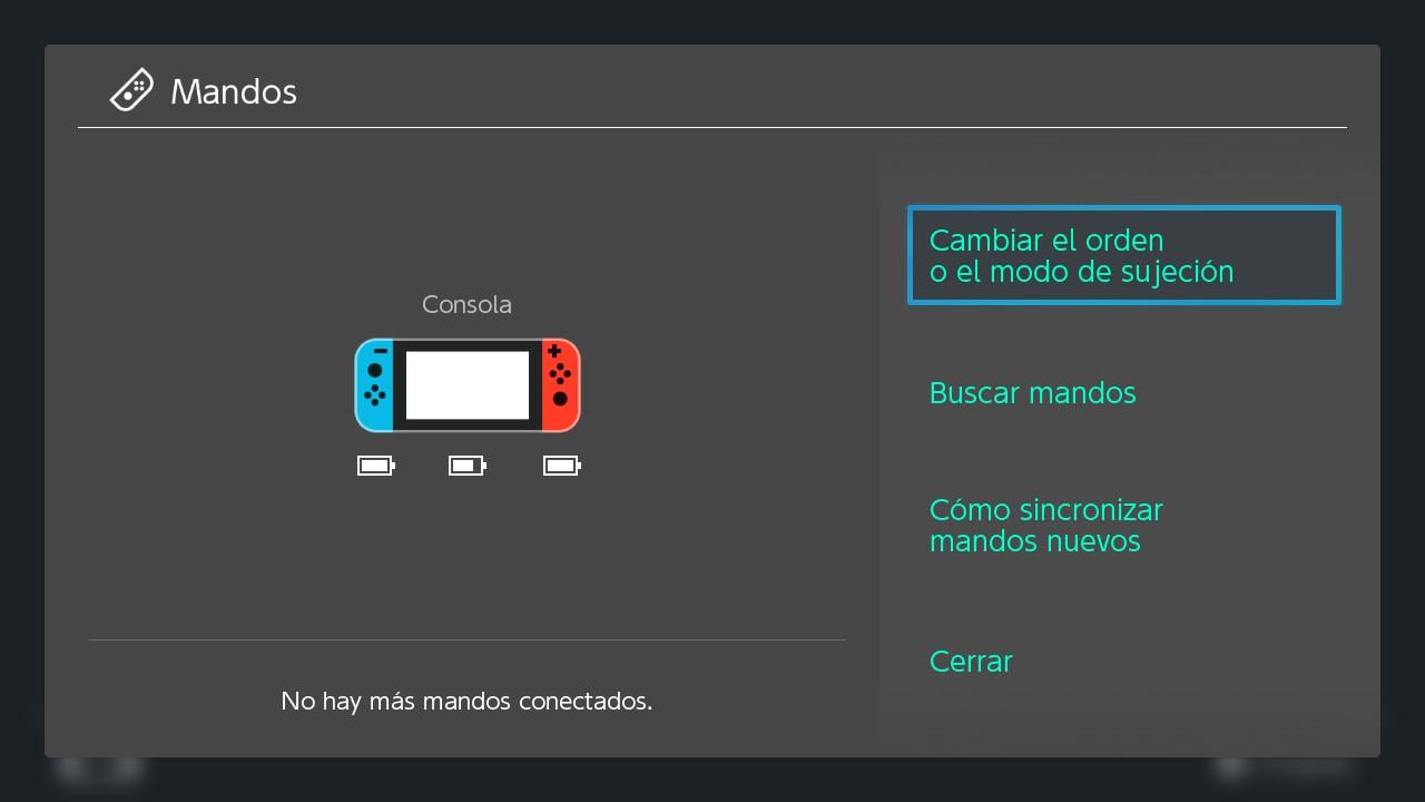 Configuración de mandos Switch