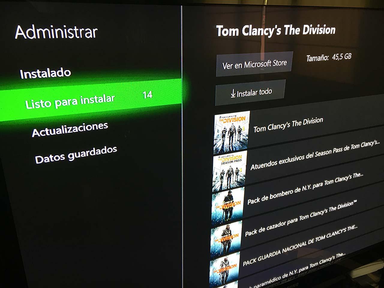 Contenido juegos Xbox One
