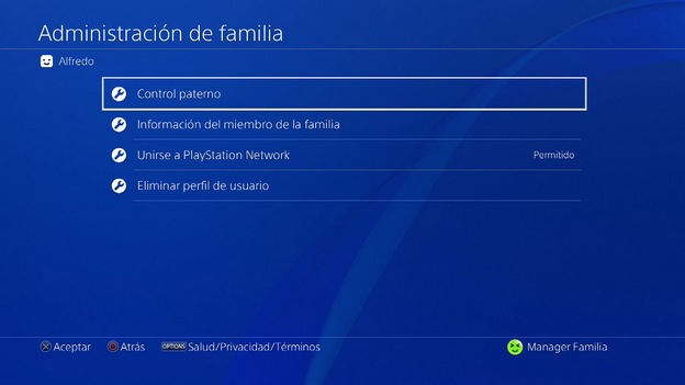 Control parental PS4