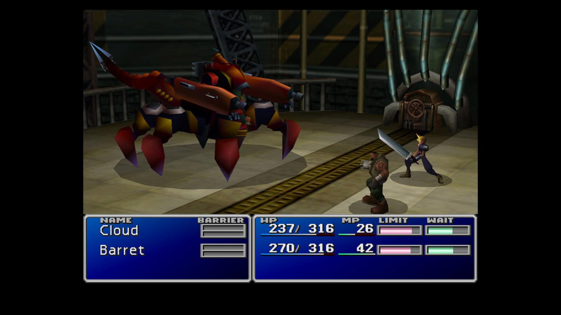 armas finales de Final Fantasy VII
