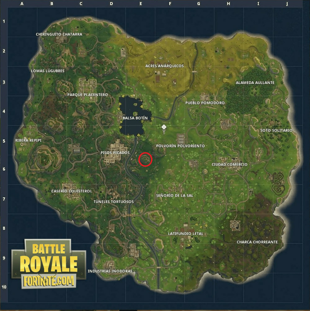Fortnite Battle Royale - Busca en un puente de metal
