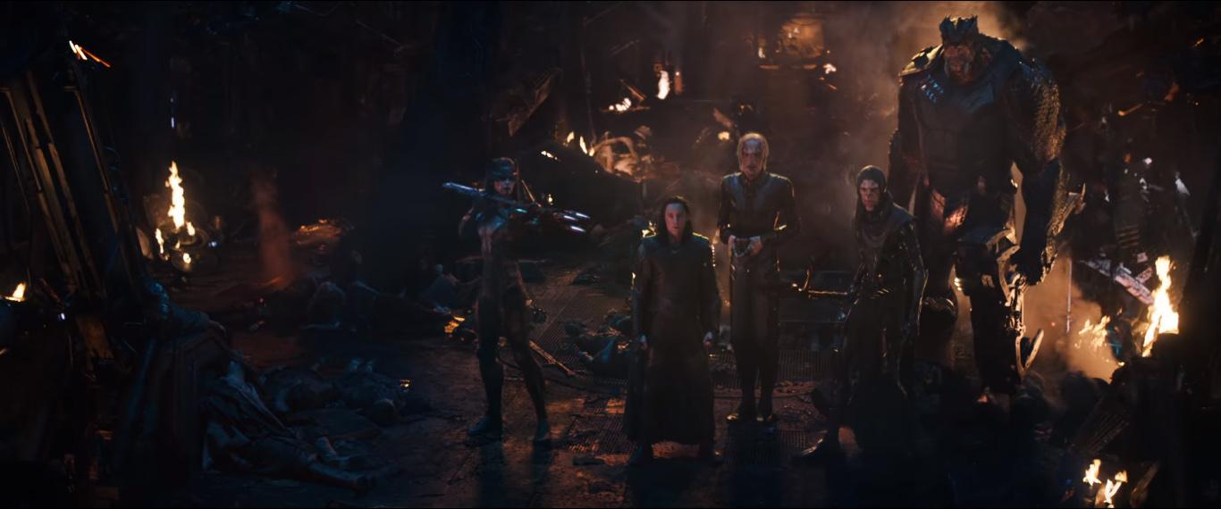 Loki con la Orden negra de Thanos en Vengadores: Infinity War