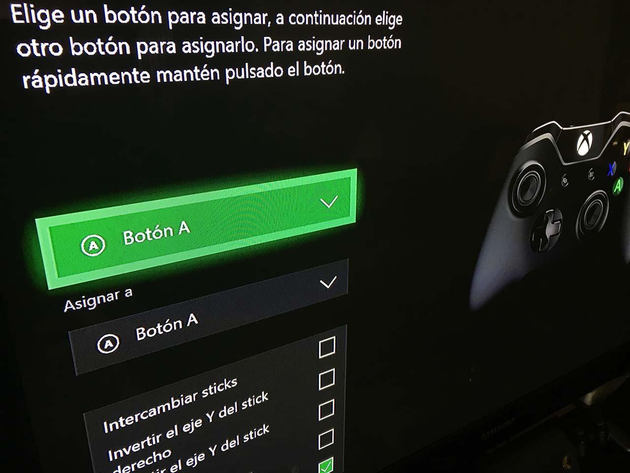 Mapeo botones Xbox One