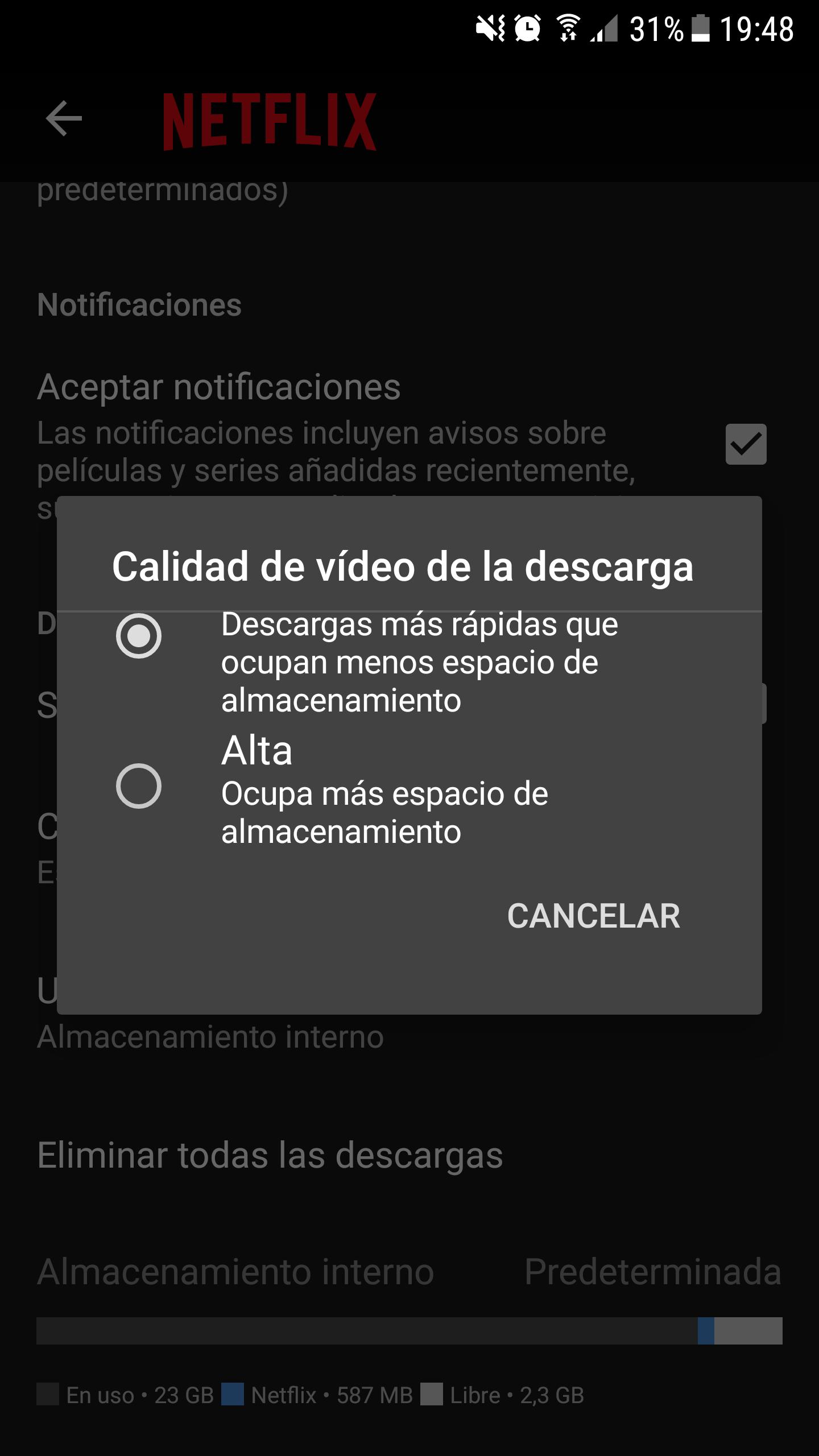 Netflix sin conexion