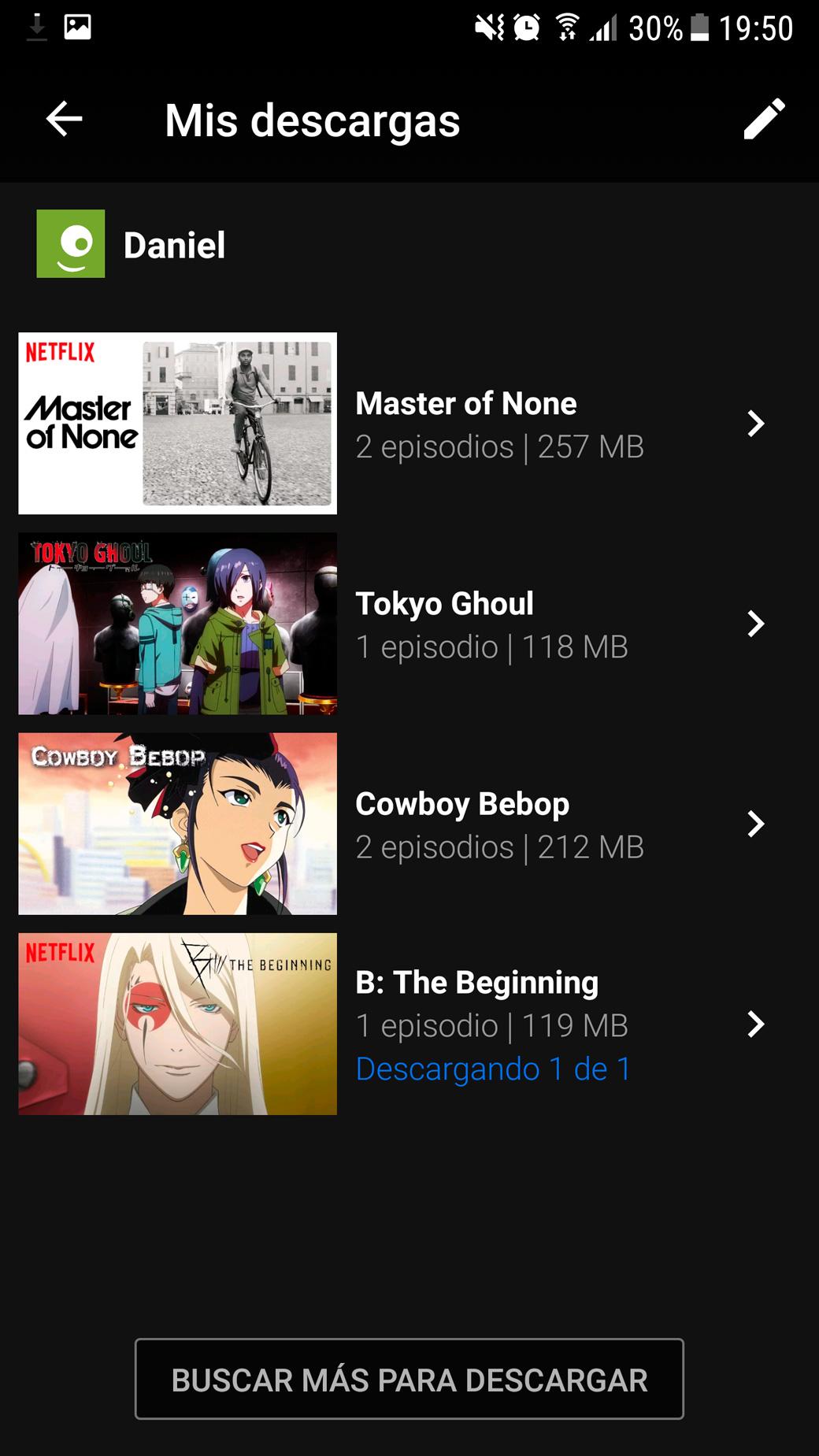Netflix sin conexión