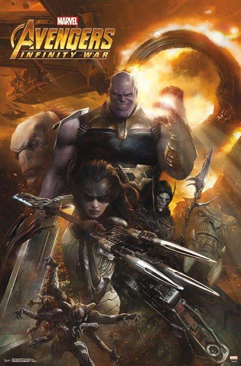 Póster Orden Negra Vengadores Infinity War
