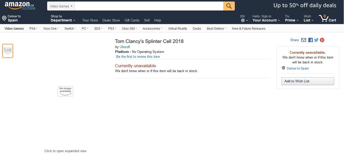 Splinter Cell Amazon