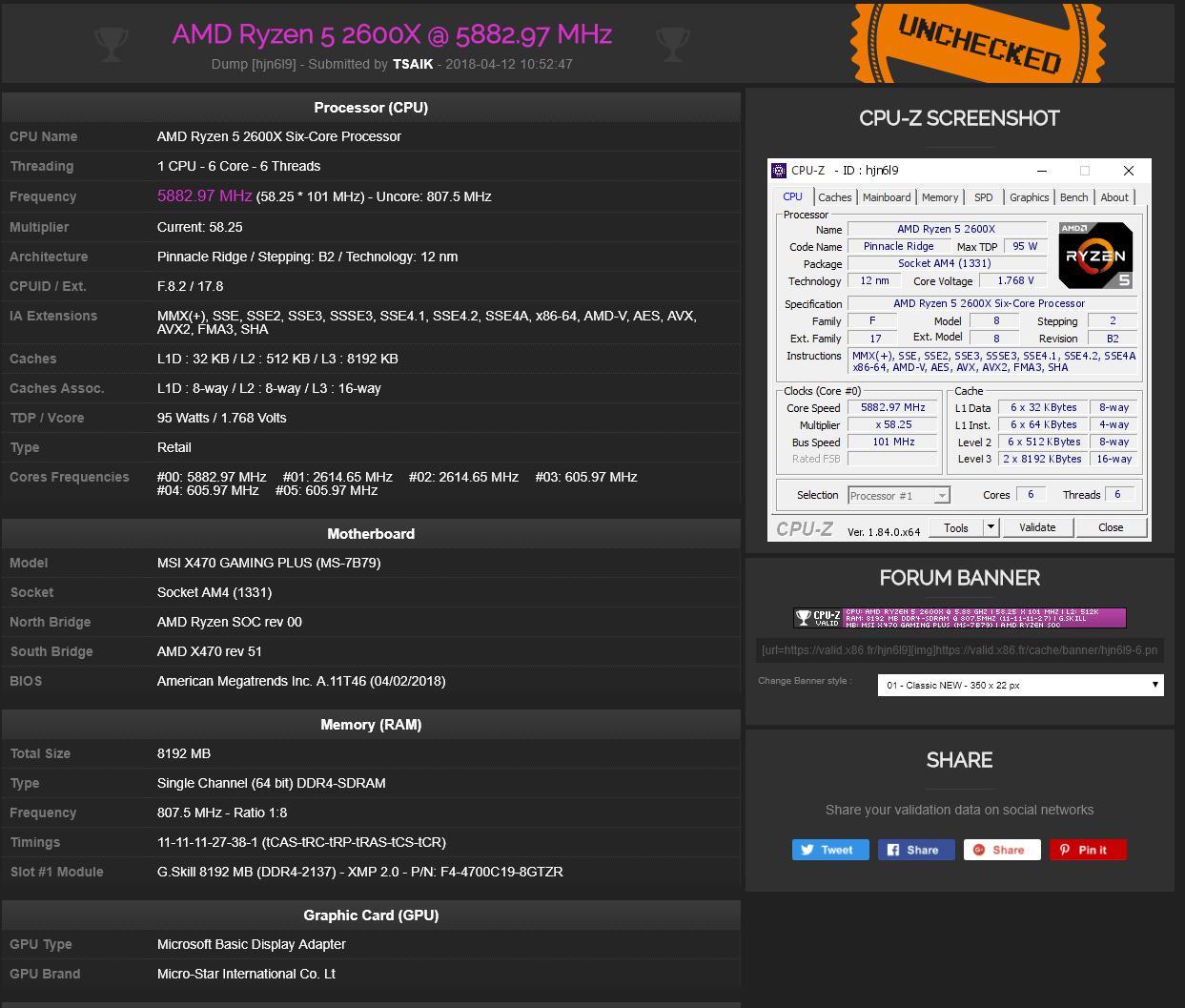 AMD Ryzen overclock