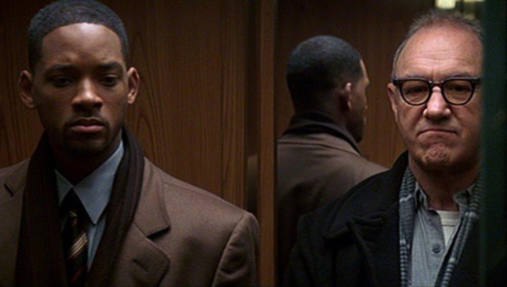 Enemigo público, con Will Smith y Gene Hackman
