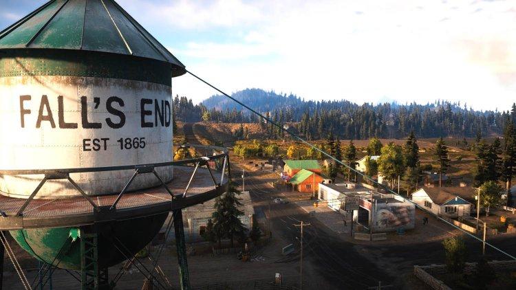 Fall's End es un pueblo de Far Cry 5 decorado con grandes murales provistos del águila americana.