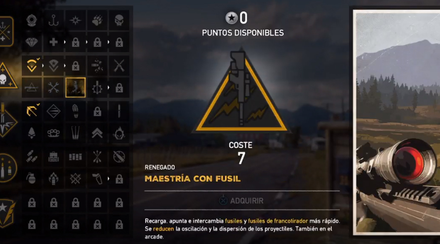 Far Cry 5 Talentos