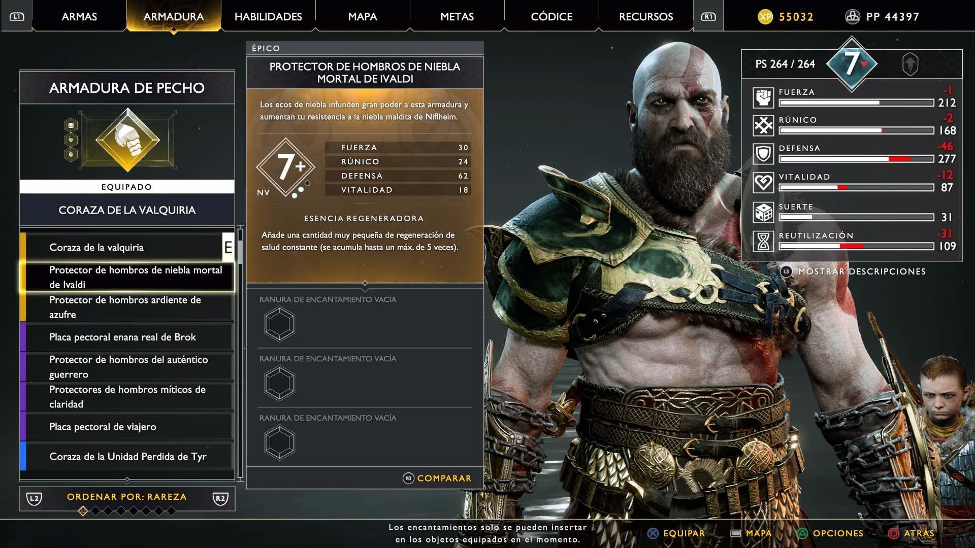 God of War Armadura de Ivaldi