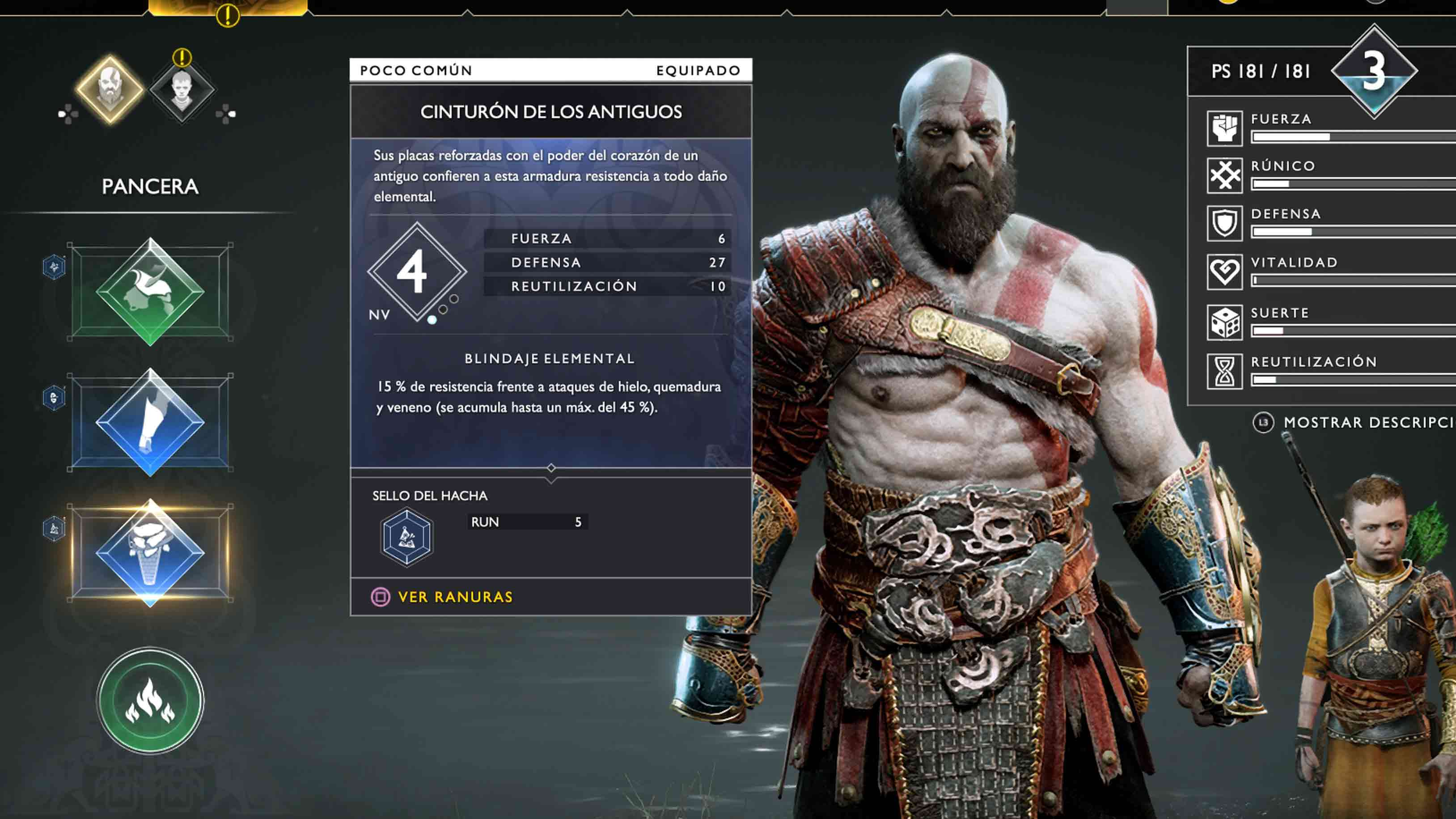 God of War armaduras