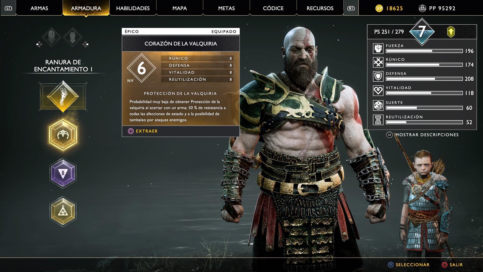 God of War Corazon de la valquiria