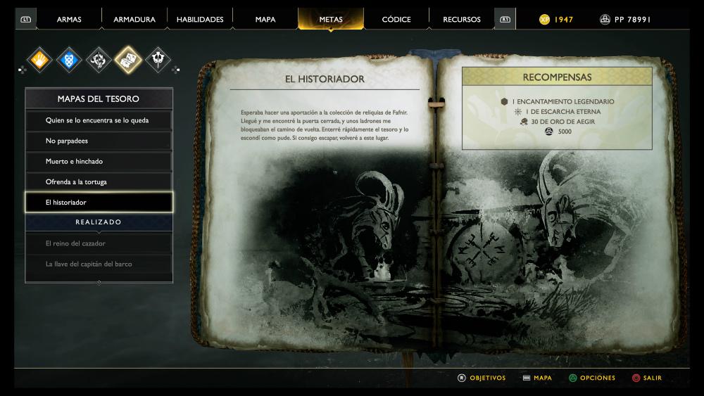 God of War - Mapa del tesoro El historiador