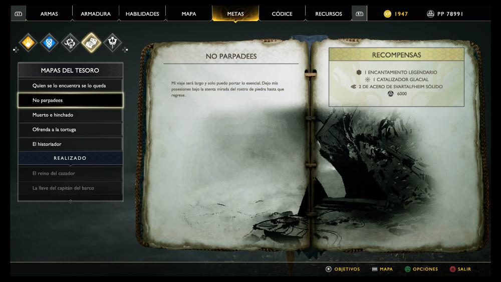 God of War - Mapa del tesoro No parpadees