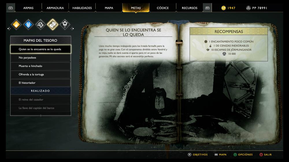 God of War - Mapa del tesoro Quien se lo encuentra se lo queda