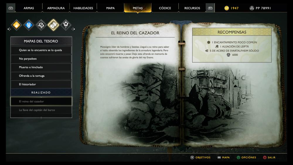 God of War - Mapa del tesoro El reino del cazador