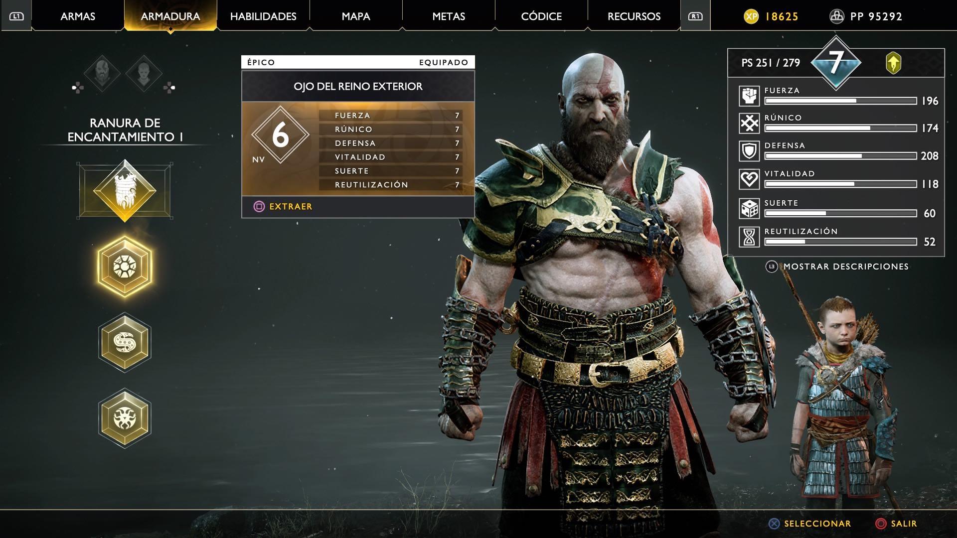 God of War ojo del reino exterior