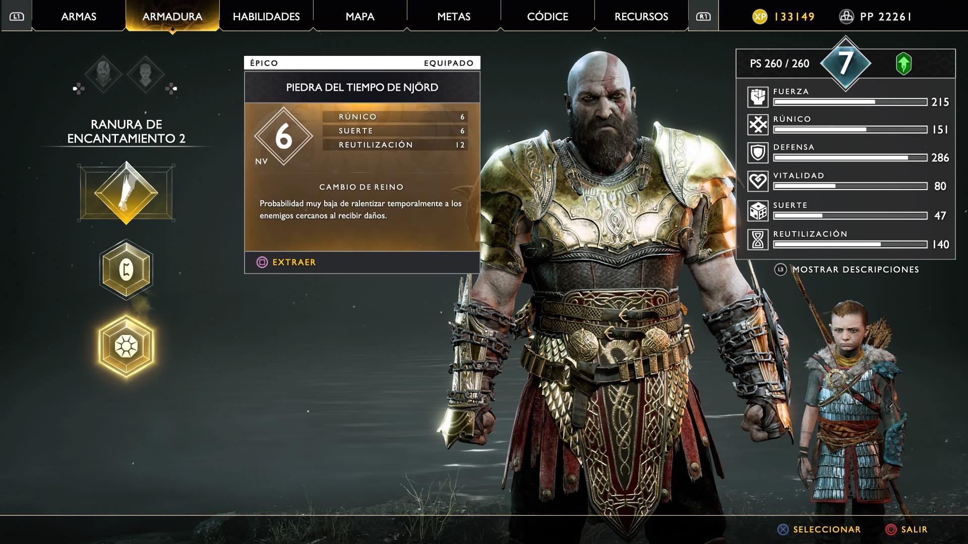 God of War piedra del tiempo Njord