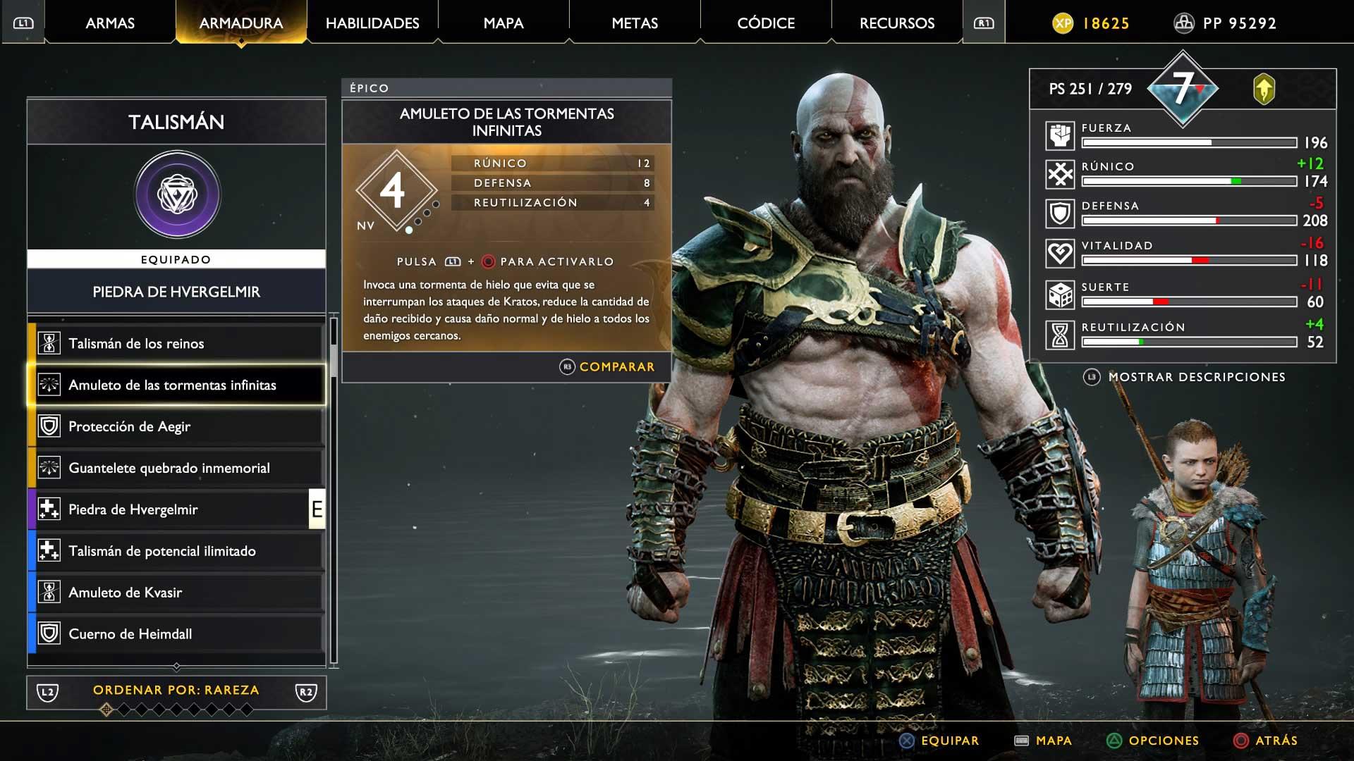 God of War talismanes