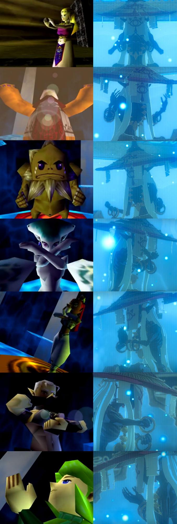 Zelda Ocarina of Time Breath of the Wild