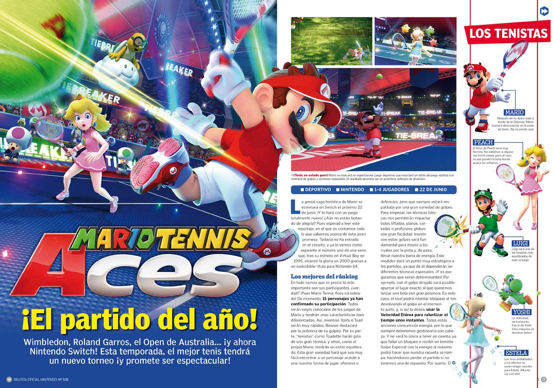 Mario Tennis Aces RON 308