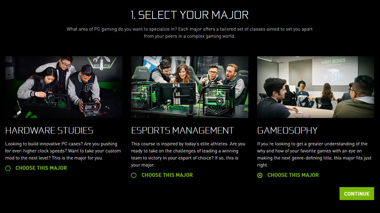 Nvidia Academy of Gaming April Fool's