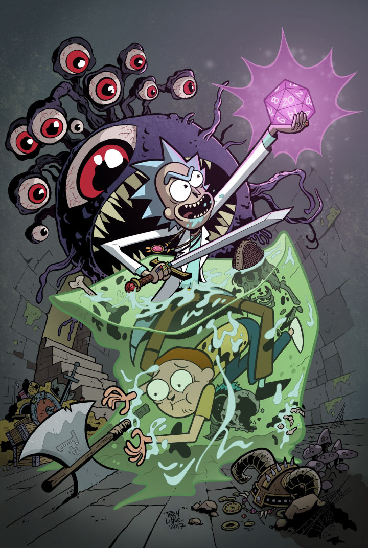 Rick y Morty crossover Dungeons & Dragons