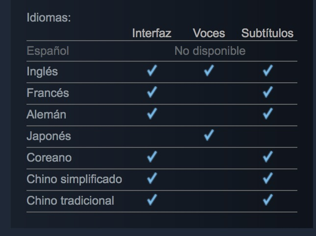 Shenmue I & II - Idiomas