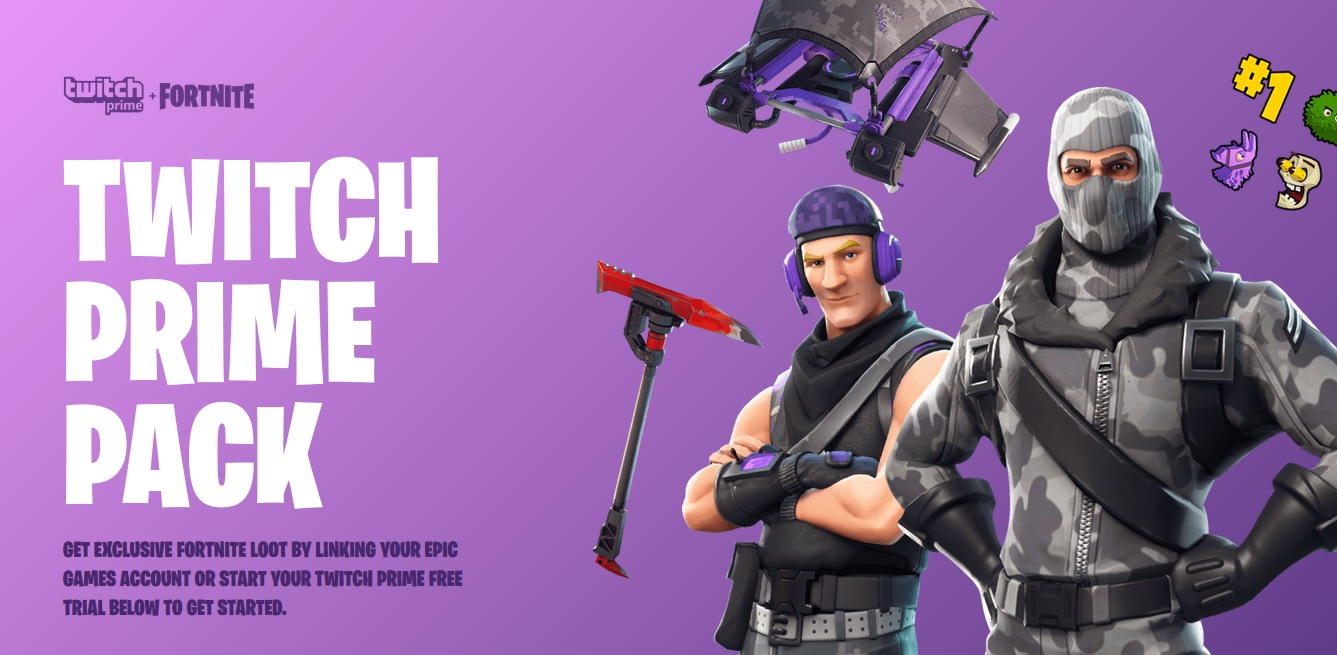 Twitch Prime Pack Fortnite Battle Royale