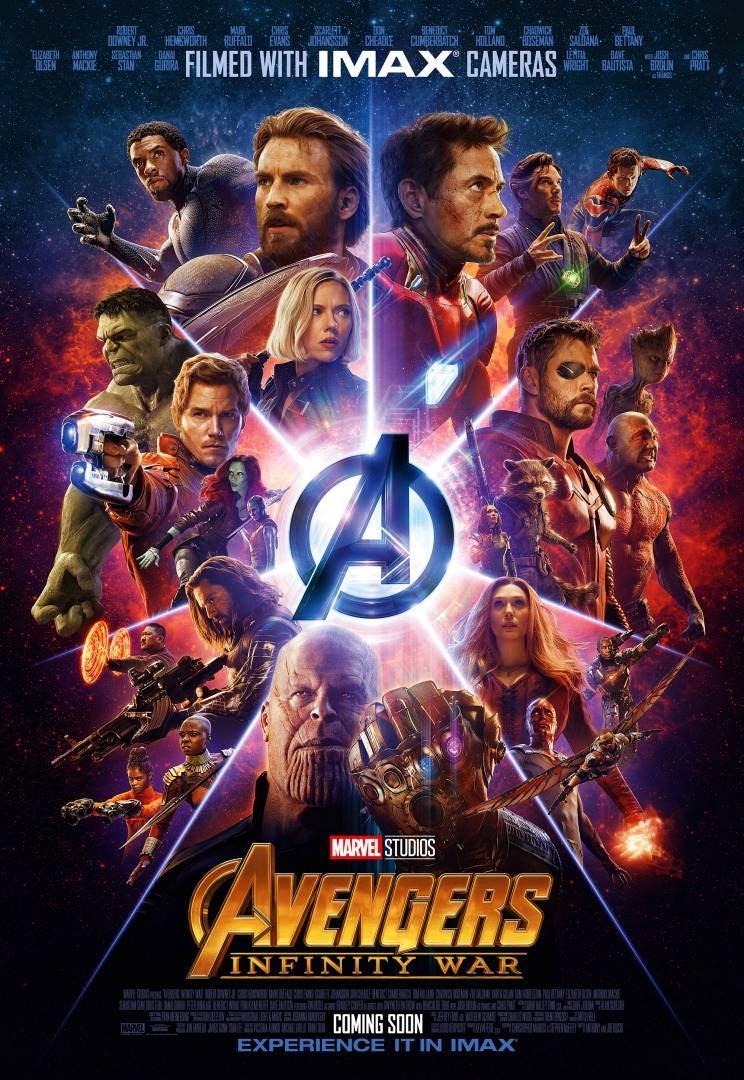 Vengadores: Infinity War póster IMAX