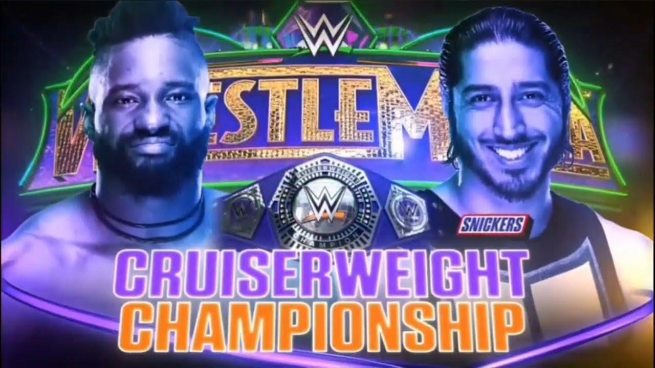 WWE WrestleMania 34- Campeonato Crucero - Cedric Alexander vs. Mustafa Ali